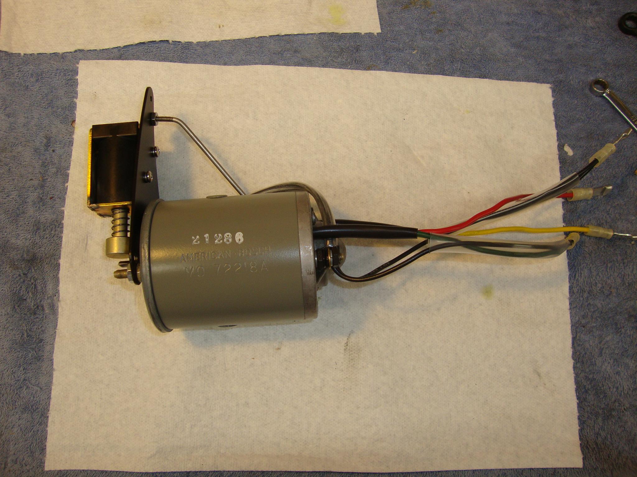 Stamped-type end housing American Bosch motor reverse