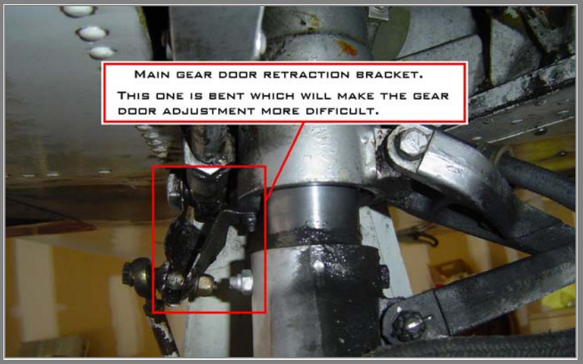 Bent Landing Gear Retraction Bracket