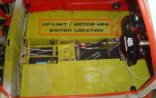 Up-Limit Motor Arm Switch Location