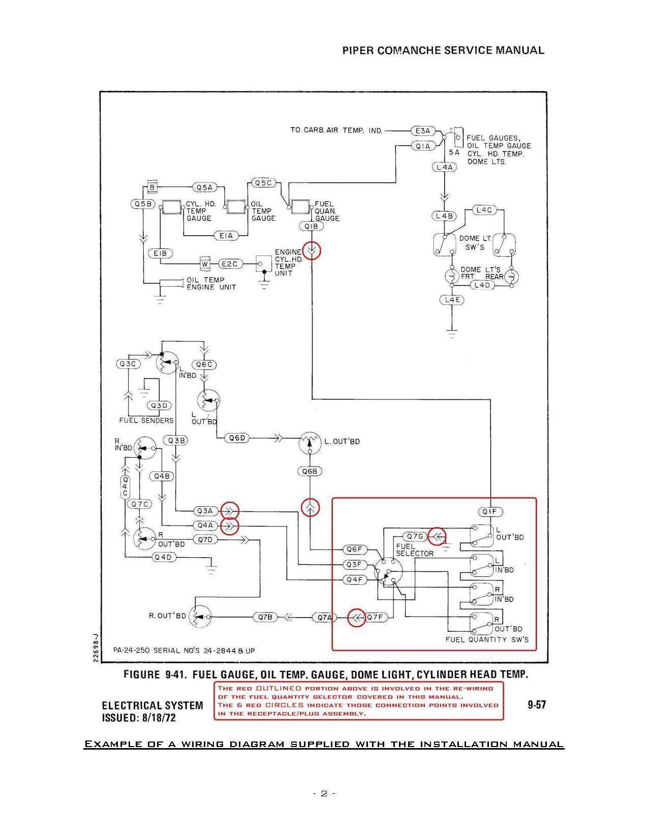 Fuel Quantity Indicator Selector Wiring Diagram