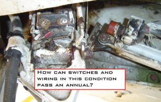 comanche examination of the landing gear wiring harnesses