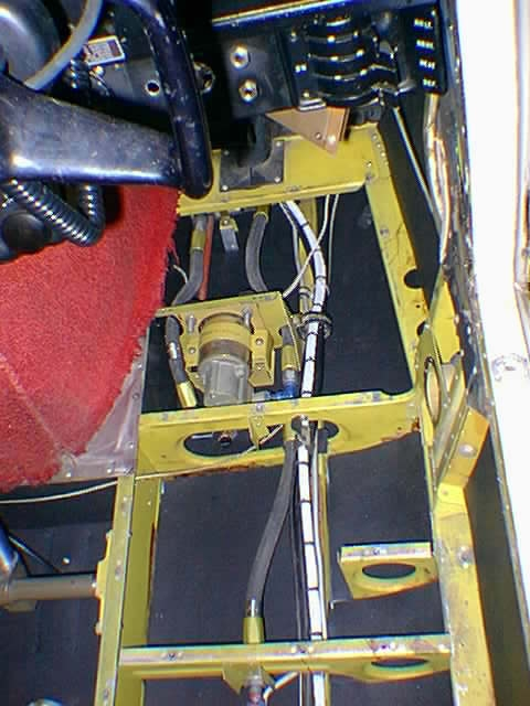 400 Comanche Boost Pump Installation Showing Special Mounting Bracket