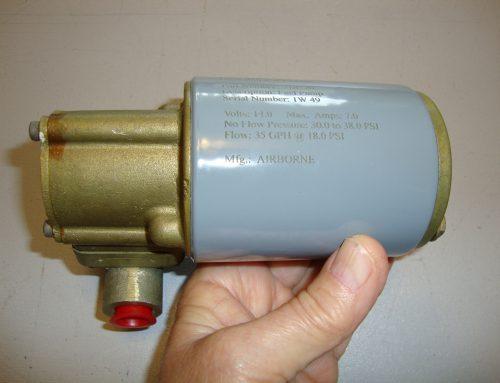 Airborne Fuel Pump 2B6-26, Piper Part Number 757-431