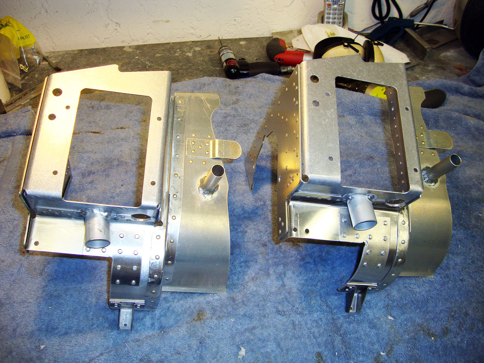 Twin Engine Baffles Unfinished Turbo Engine Baffles Pair