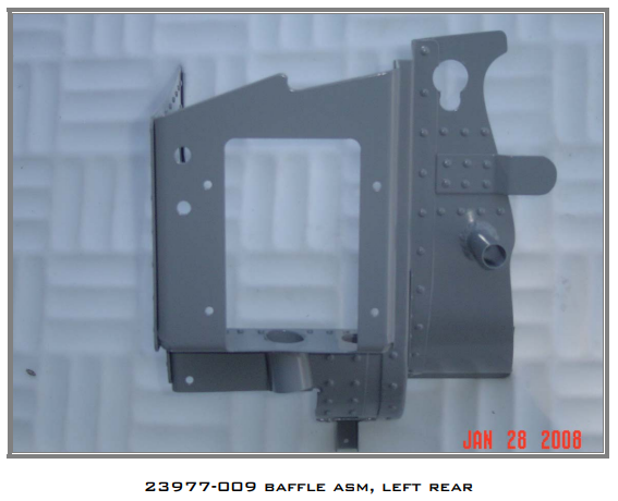 23977-009 Baffle ASM, Left Rear