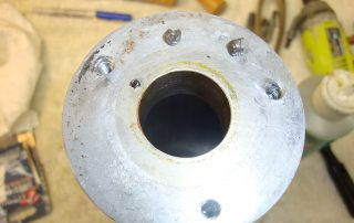 Sheared AN3 bolts