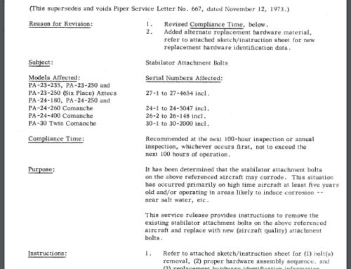 Service Letter 667A