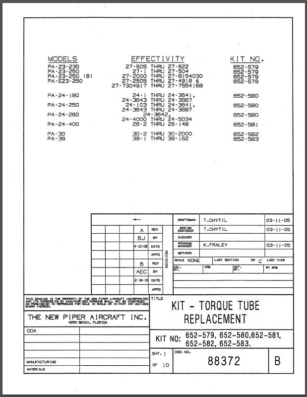 service bulletin 1189-88372 cover