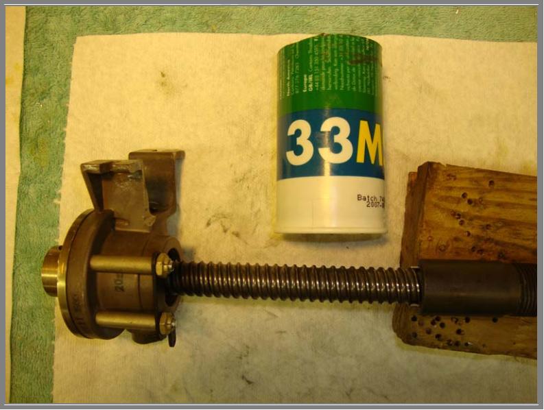Dukes Transmission Service Traversing Nut Install