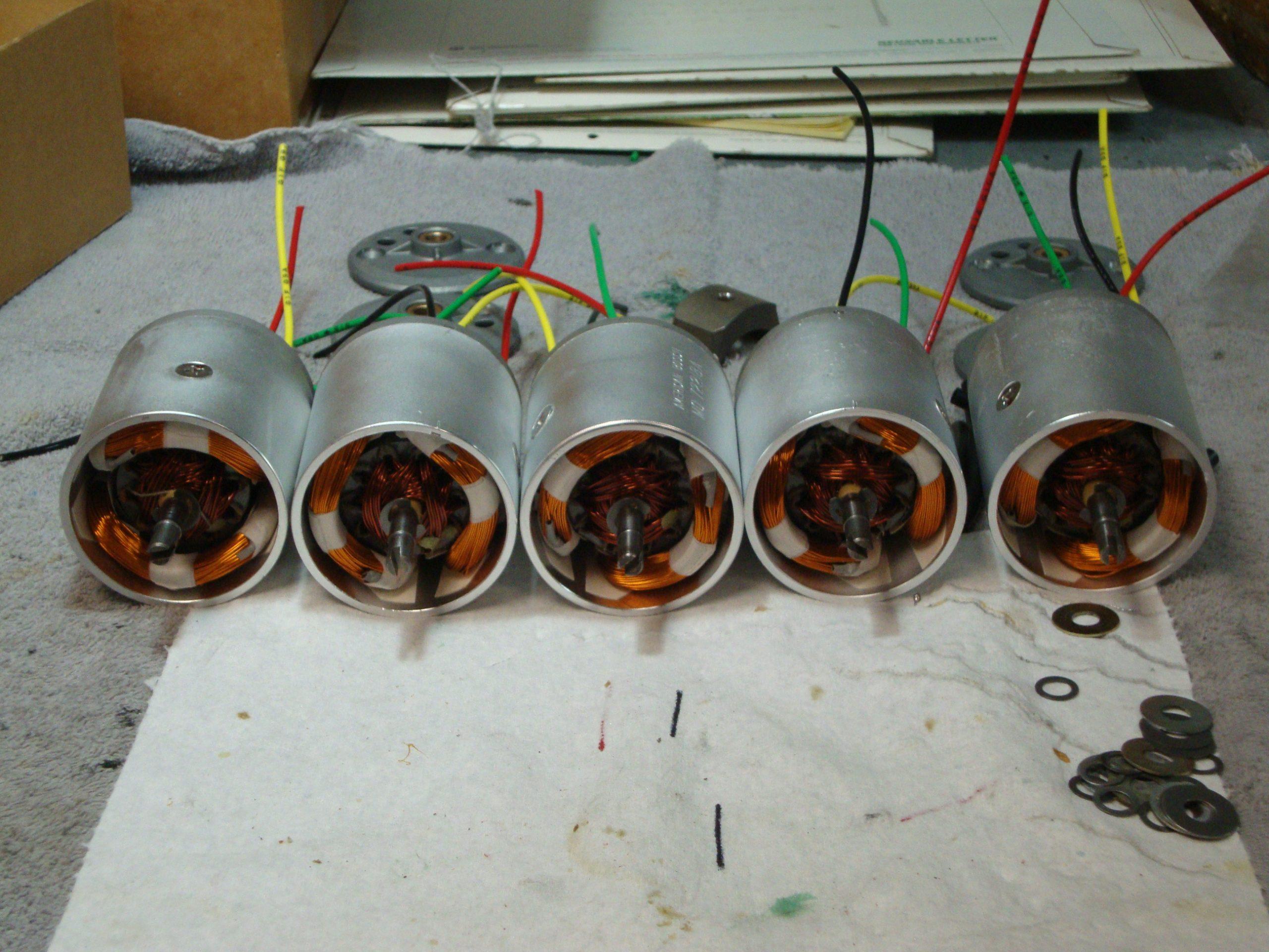 American Bosch landing gear motors MO72218A, showing internals
