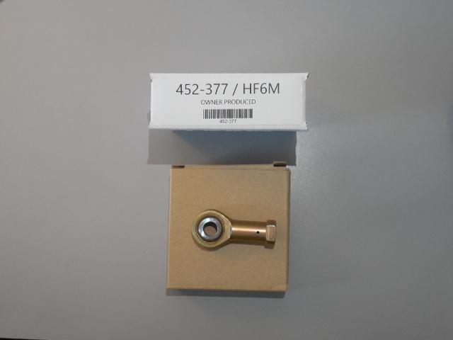 Bearing, rod end. Piper P/N: 452-377 / Heim P/N: HF6M.